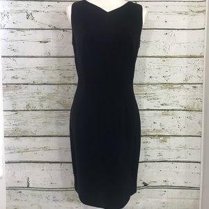 LORD & TAYLOR black sheath dress Sz 8 sleeveless